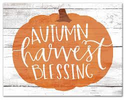 Autumn Harvest Blessing Print On Canvas