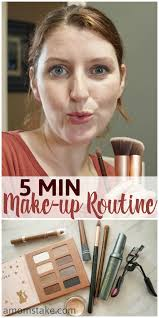 this easy 5 minutes or less morning make up routine can help you
