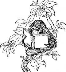 猿読書クリップアート ベクター クリップ アート 無料ベクター 無料