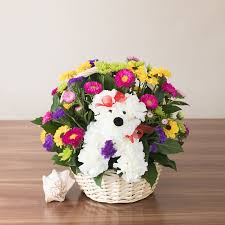 doggie delight designer favorite gift this charming basket of flowers to a special