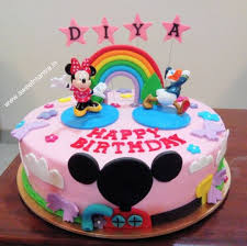 Minnie Mouse Club House Theme Small 3d Cake For Kid Cake By Sweet