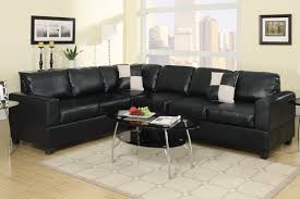 Black sectional couches Black Leather Black Faux Leather Sectional Sofa Buy Less Furniture Black Faux Leather Sectional Sofa F7630 Buy Less Furniture