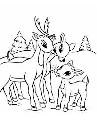 Christmas Baby Reindeer Coloring Pages Profitclinic Info