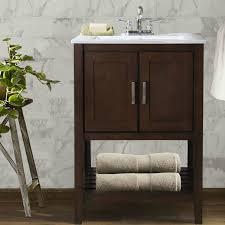 24 Inch Sink Cabinet Abel 24 Inch Single Sink Bathroom Vanity Coffee Finish White