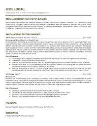 Fashion Merchandising Resume Sample Best Solutions Of Merchandising