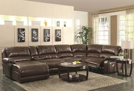 Living Room Furniture Sectionals Coaster Mackenzie Chestnut 6 Piece Reclining Sectional Sofa With