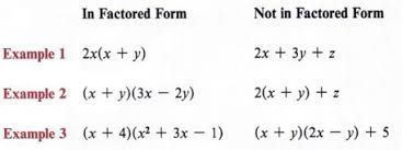 factor form definition factor a polynomial or an expression with step by step math problem