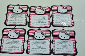 birthday and baby shower invitations sanrio hello kitty handmade taiwan thailand singapore asia