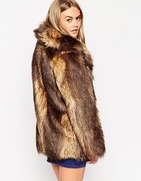 asos faux fox fur coat