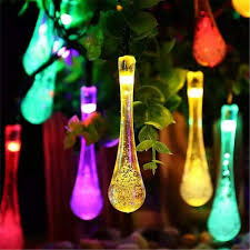 Classic Holiday Lights Amazon Com Babifis Led Water Drop Light String Solar Garden