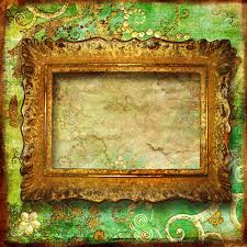 Vintage Green Background With Antique Frame Stock Photo Picture And