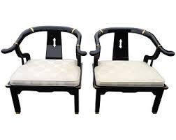 Looklacquered furniture inspriation picklee Lacquer Finish Pair Of Century Asian Lacquered And Brass Chairs The Style Of James Mont Diy Network James Mont Etsy