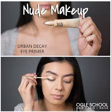 prime eyelids start by priming your eyelids this will enhance the eyeshadow colors that you use and it will keep your makeup looking good all day long