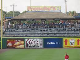 Spectrum Field Clearwater Fl Seating Chart Tiki Bar Smoking Area Over The Left Field Wall Picture