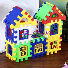 24pcs Baby Kids Children House Building Blocks Puzzle Educational Bricks Toy  Q