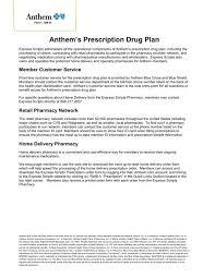 Express Scripts Customer Service Anthems Prescription Drug Plan