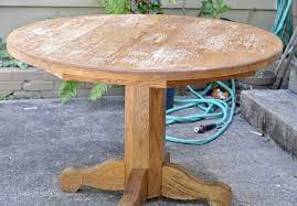 how to refinish a farmhouse table when