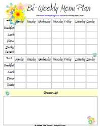 family menu template free printable menu planners printable menu menu planners and