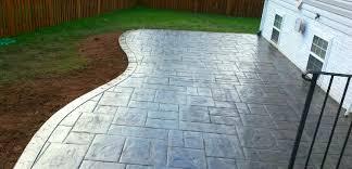 curved concrete patio patio shapes