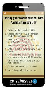 how to link aadhar with mobile number