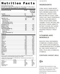 nutrition info for honey bunches of oats honey roasted