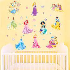 disney princess wall stickers girls art