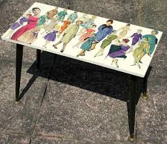decoupage ideas for furniture. Upcycled Vintage Coffee/Side Table 1950\u0027s Pin-up Ladies Fashion Decoupage #Unbranded #VintageRetro Ideas For Furniture D