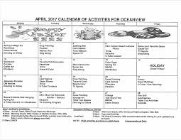 Ocean View Activity Calendar - Maui Adult Day Care Centers