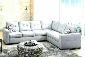 cream colored leather sectional sofa leat