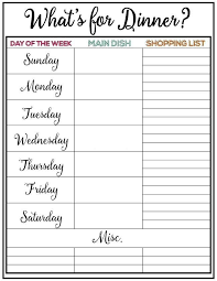 Planned Meals For A Week Weekly Meal Plan Printable Week 9 I Tips Meal Planning