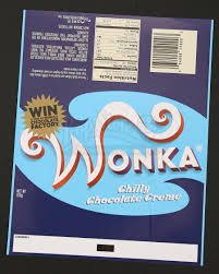 wonka chocolate bar wrapper. Wonderful Chocolate Wonka Bar Wrapper  Chilly Chocolate Creme  Prop Store Ultimate Movie  Collectables Intended R
