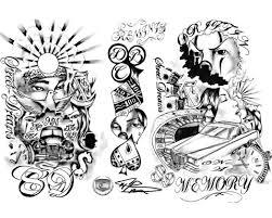 мужские рукава татуировки эскизы олд скул и надписи 14 фото