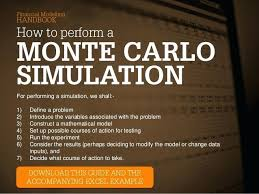 Monte Carlo Simulation Excel Example Basic Simulation Template Monte ...