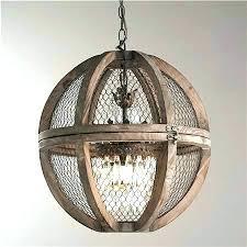 wood and metal orb chandelier sphere globe rustic for elegant large world market