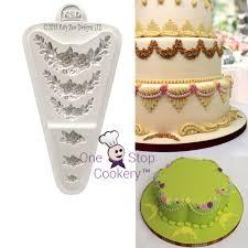 Designer Cake Tins Cake Decorating Mould Rose Border Plaque Katy Sue Designs
