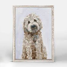 Golden Doodle Mini Framed Canvas