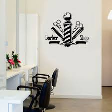 Hair And Nail Salon Design Us 7 64 20 Off Vinyl Wall Decal Sticker Hair Nail Salon Signboard Barber Shop Scissors For Window Waterproof A339 In Wall Stickers From Home