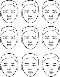 free face painting template i just made hopefully gender and race non specific