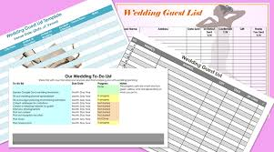 Wedding Guest List Template Excel Download Free Wedding Guest List Templates For Word And Excel Track