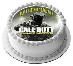 Call of Duty Infinite Warfare Edible Cake Topper & Cupcake Toppers