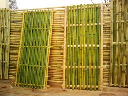 bamboo wall panels with natural fence