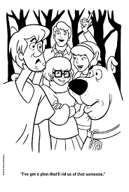 Scooby Doo Coloring Pages Halloween Coloring