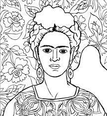 Frida Kahlo Da Colorare Disegni Messico The Baltic Post