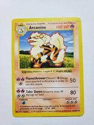 Base Set Unlimited Arcanine 23/102 LP Toys & Hobbies wohnen-schlafen Pokémon  Trading Card Game