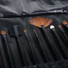 shany professional 12 piece natural goat and badger the shany studio quality natural cosmetic brush set with leather pouch