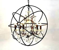mini rustic iron chandelier with crystals