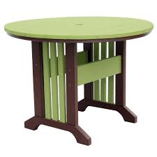 outer banks 60 round poly lumber table with picket fence base