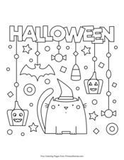 This free printable halloween invitation is sure to stand out from all the others and will be remembered for years to come. Halloween Coloring Pages Free Printable Pdf From Primarygames