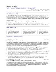 It Project Manager Resume Template Kinalico