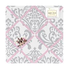 White French Memo Board Awesome Pink Gray And White Elizabeth Fabric MemoryMemo Photo Bulletin